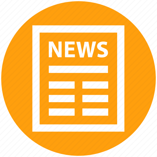business, news, news article, newsletter, newspaper, press icon