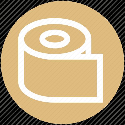 paper, roll, tissue, tissue paper, tissue roll, toilet icon