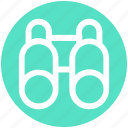 binocular, explore, find, search, spyglass, view icon