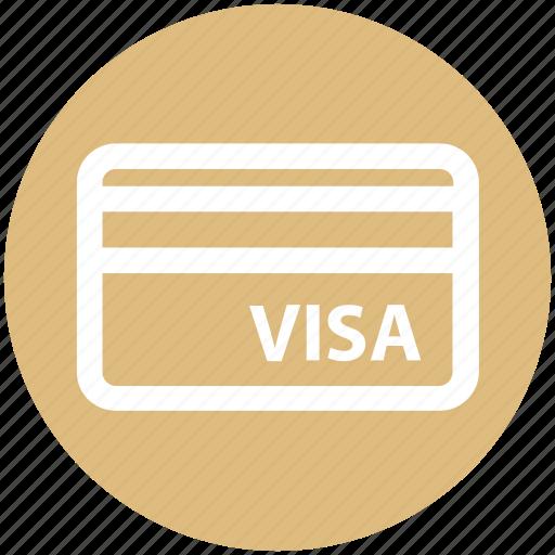 atm card, card, credit card, debit card, smart card, visa card icon