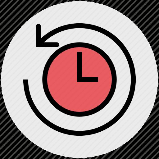 alarm, arrow, clock, time, time optimization, watch icon