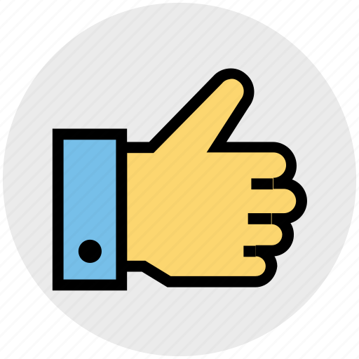 hand, like, thumb, thumbs up, up, vote icon
