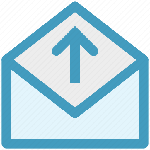 envelope, letter, mail, message, open envelope, send icon