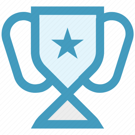 achievement, award, cup, medal, star, trophy icon