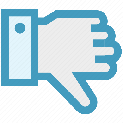 dislike, down, hand, thumb, thumbs down, vote icon