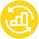 arrows, business, chart, graph, result, sync, up icon