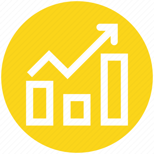 arrow, business, chart, graph, result, up icon