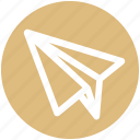 airplane, paper, paper plane, plan, send, sheet icon