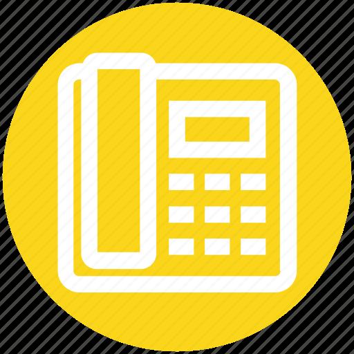 call, communication, contact, landline, phone, telephone icon