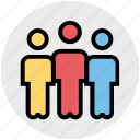 businessmen, meeting, people, standing, users icon