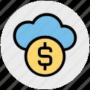 business, cloud, coin, dollar, fund, internet, platform