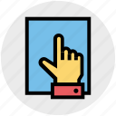 catch, document, file, finger, hand, paper, sheet icon