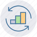 arrows, business, chart, graph, result, up icon