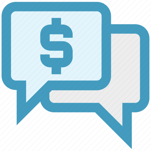 chat, chat bubble, dollar, message, sale offer, sign icon