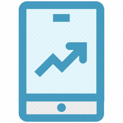 business, chart, growth, marketing, mobile, phone icon