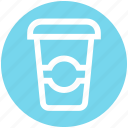 beverage, coffee, coffee cup, drink, glass, paper, water icon