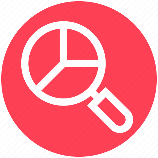 Analytics, bar, chart, graph, magnifier, search icon - Download on Iconfinder