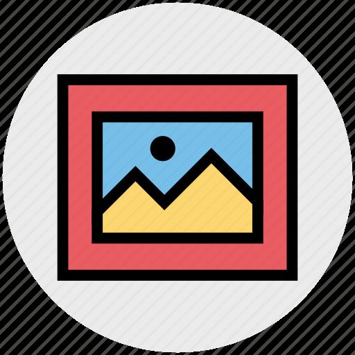 frame, image, landscape, photo, picture icon