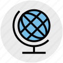 business, desk globe, desktop globe, marketing, office supplies, table globe icon