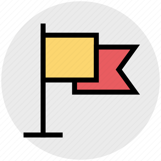 business, flag, flagpole, investment, market, teamwork icon