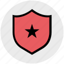 badge, premium, protection, rating, shield, star, votes icon