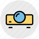 entertainment, film, projection, projector, projector device, video icon