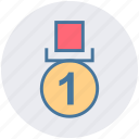achievement, award, badge, business, first, medal, winner icon