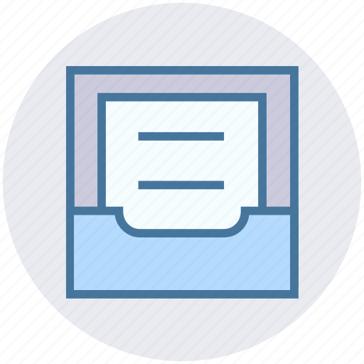 archive, directory, document, file, folder, paper, storage icon