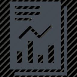 document, graph, office document, pie icon