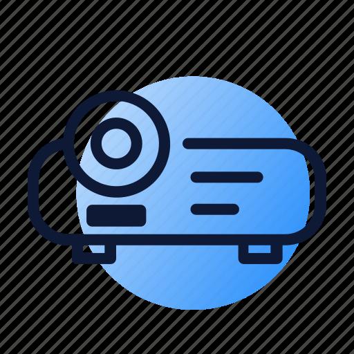 beamer, presentation icon