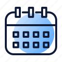 calendar, meeting, planning, time icon
