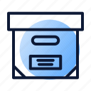 box, documentation, file icon