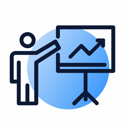 board, graph, meeting, planning, presentation icon