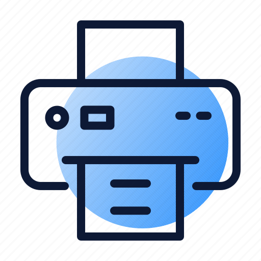 documentation, office, printer, printing icon