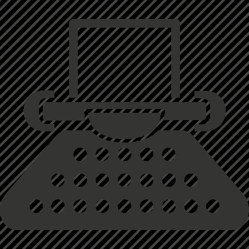 article, copyright, office supplies, typewriter, typing machine icon