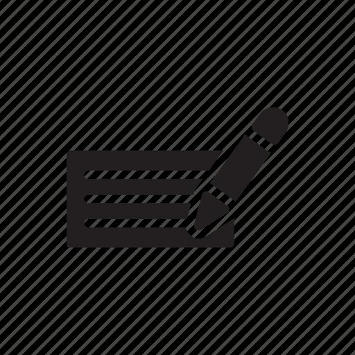document, extension, file, format, paper, pen, sheet icon