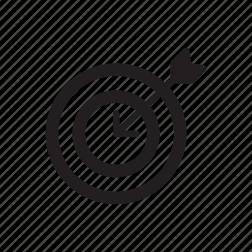 business, dartboard, goal, graph, marketing, target icon