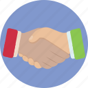agreement, business, deal, hand shake icon