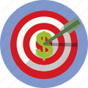 bullseye, business, earn, money, target icon