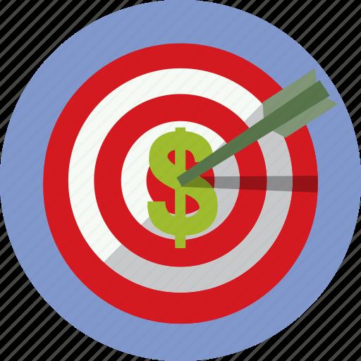 bullseye, business, earn, money, target icon