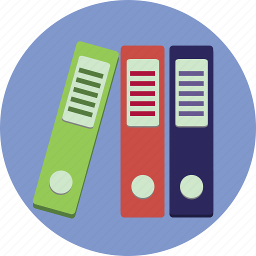 binders, business, folders, information icon