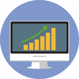 business, computer, graph, imac, pc, statistics, stats icon