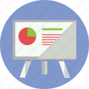 business, graph, statistics, stats, whiteboard icon