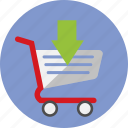 arrow, business, cart, commerce, online, shopping icon