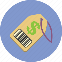 barcode, business, money, price, price tag, tag icon