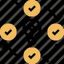 validate, learning, process, progress, develop icon