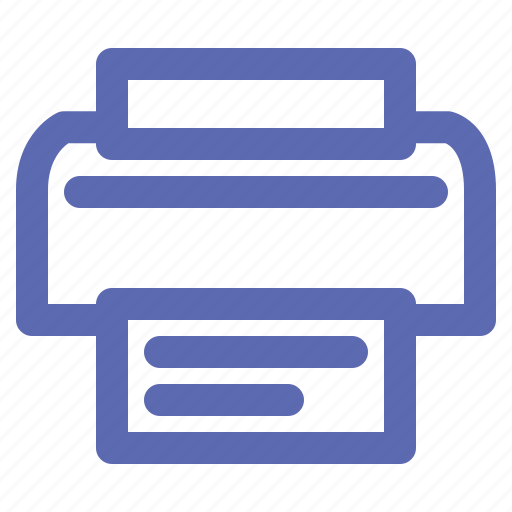 business, office, printer icon