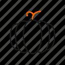 empty, food, halloween, pumpkin, vegetable icon