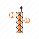 communication, radio, tower icon