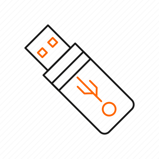 data, stick, storage, usb icon
